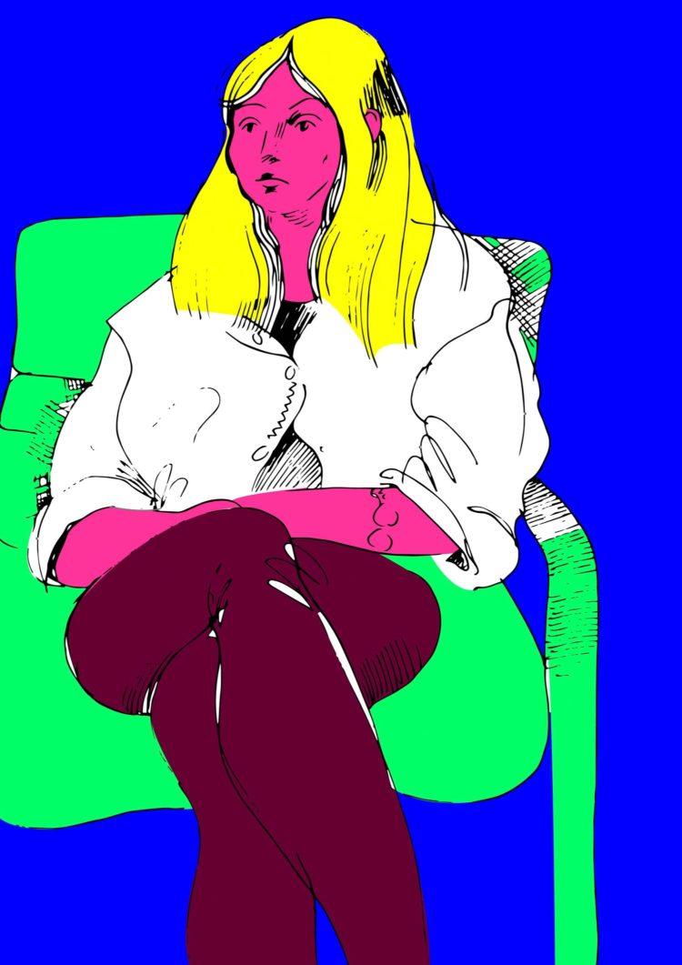 Portrait 2. Digitale Illustration von Anna Dokuchaeva