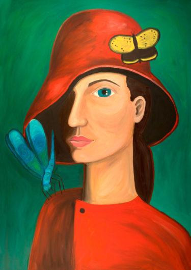 An expressionistic portrait of a woman - drawn by Aga Aayat - friendmade.fm