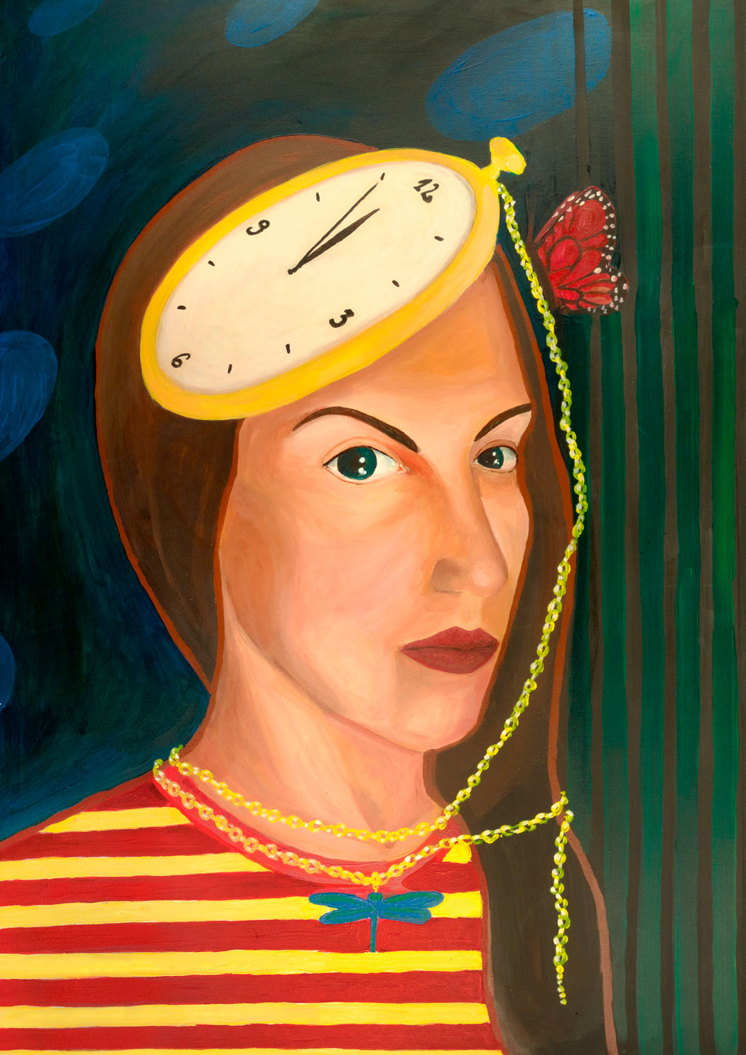 cubistic painting of a woman - by aga hayat - friendmade.fm
