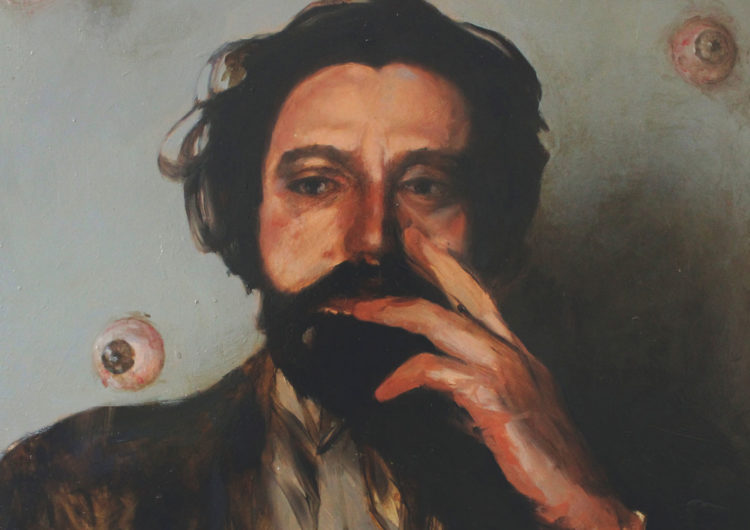untitled - oil painting of a man holding his hand to his face - friendmade.fm