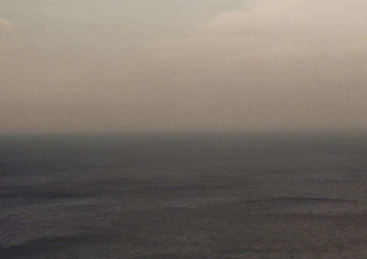 analogue landscape photography of haze above the ocean - captured by Katrin Mainusch - friendmade.fm