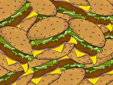 Brainoon Burger - Juna Lawrence - Brainoon - Friendmade.fm - digital food art illustration - pop art inspired
