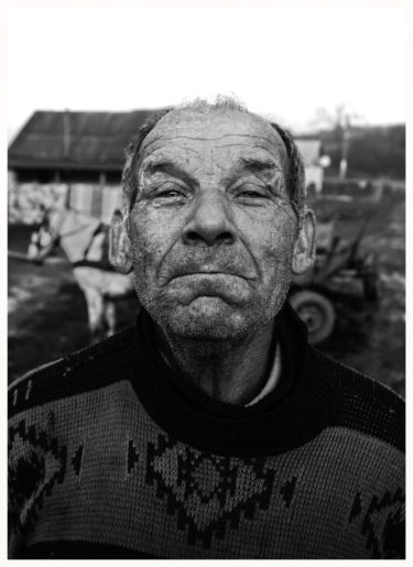 Romanian Farmer - black and white portrait by Will Falize- friendmade.fm
