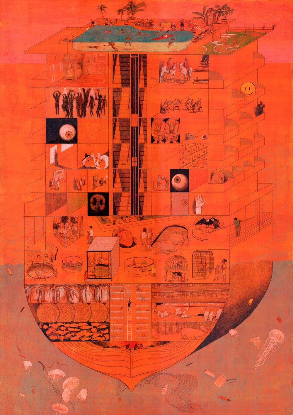 Ark - painting by Julia Hosse